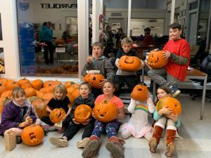kids and pumpkins 2019